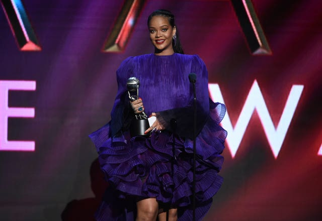 Rihanna accepts the President's Award