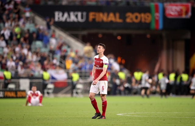 Koscielny could not help Arsenal to Europa League success as they lost last year's final to Chelsea.