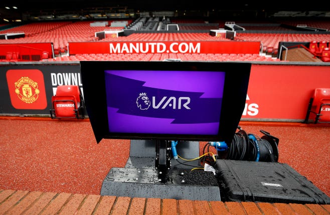 VAR pitchside monitors have now become a key part of Premier League football