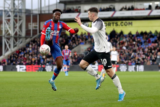 Brandon Pierrick, left, made his full debut for Palace