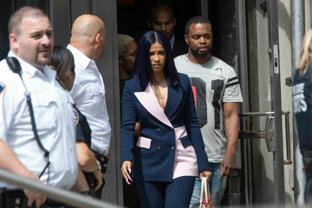 Cardi B leaves court