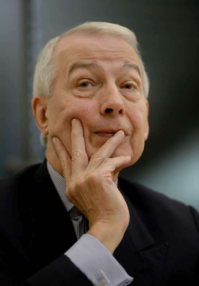 File photo dated 08/12/14 of Labour MP Frank Field, chairman of the Work and Pensions Committee. (Anthony Devlin/PA)