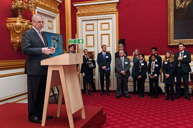 Duke of York at iDEA award presentation