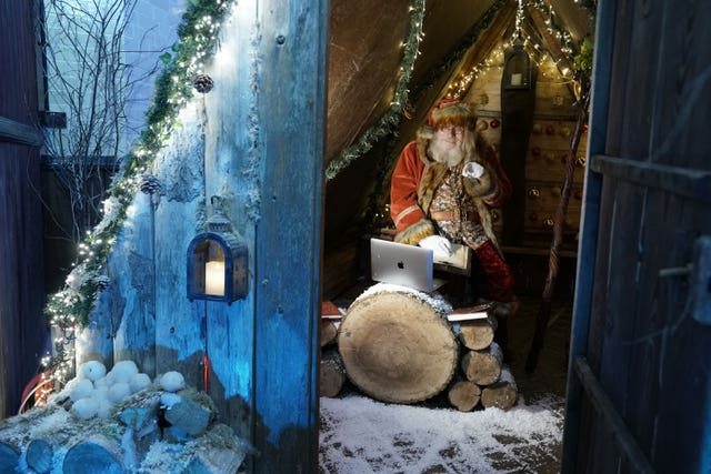 Bamburgh Castle Christmas grotto