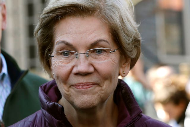 Elizabeth Warren has been touted as a possible running mate (Steven Senne/AP)