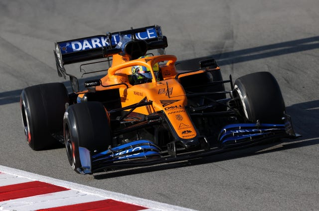 McLaren's Lando Norris during pre-season testing at the Circuit de Barcelona