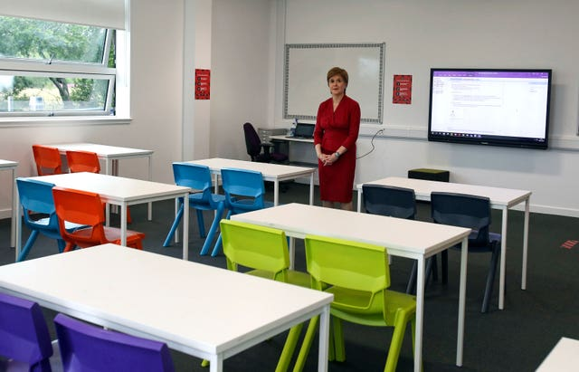 Nicola Sturgeon visits school