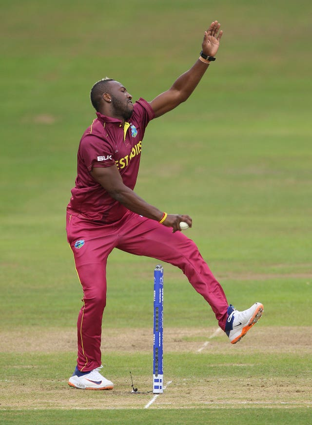 Andre Russell is a fitness doubt for the West Indies