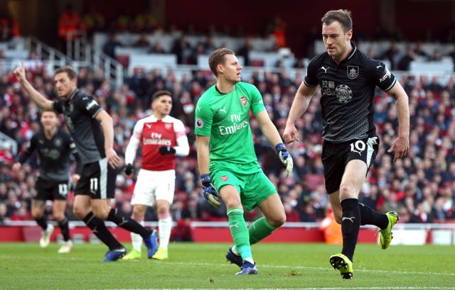 Ashley Barnes (right) had given Burnley a chance to stage an unlikely comeback at Arsenal.