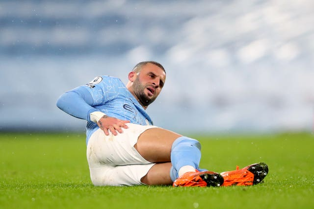 Kyle Walker will also be unavailable for Manchester City at Cheltenham (Clive Brunskill/PA)