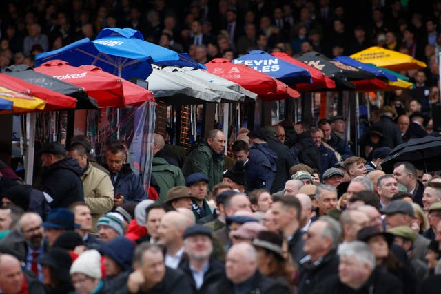 A wet start did little to dampen the spirits ahead of Gold Cup day