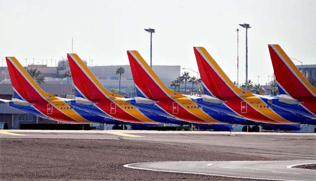 Boeing 737 Max jets are grounded at Sky Harbour International Airport in Phoenix