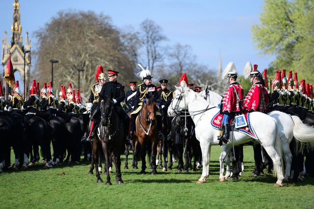 Major General's inspection of the Household Cavalry Mounted Regiment