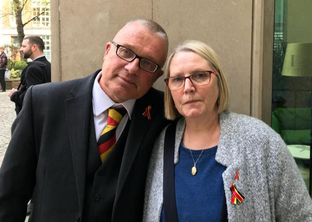 Colin and Denise Turton, parents of 10-year-old Lee