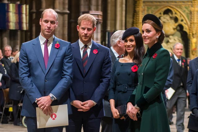 The Cambridges and the Sussexes