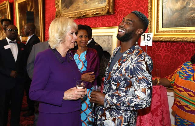 The Duchess of Cornwall with Tinie Tempah