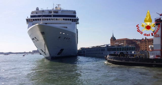 Italy Venice Collision