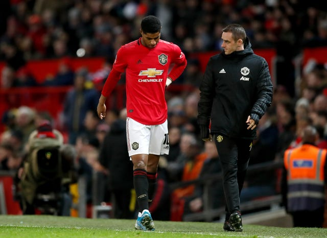 Marcus Rashford trudged off injured during United's FA Cup win over Wolves.