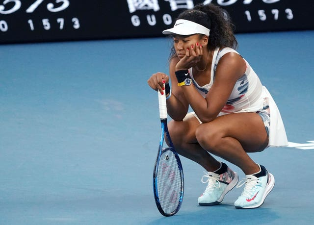 Naomi Osaka looks despondent during her defeat by Coco Gauff