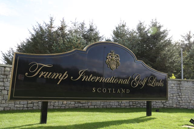 Trump golf estate in Balmedie