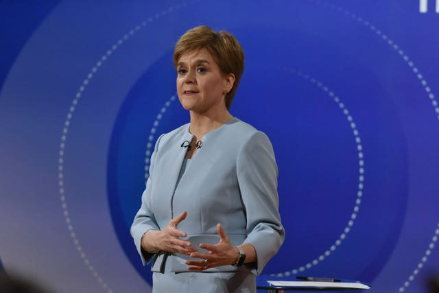SNP leader Nicola Sturgeon during Question Time