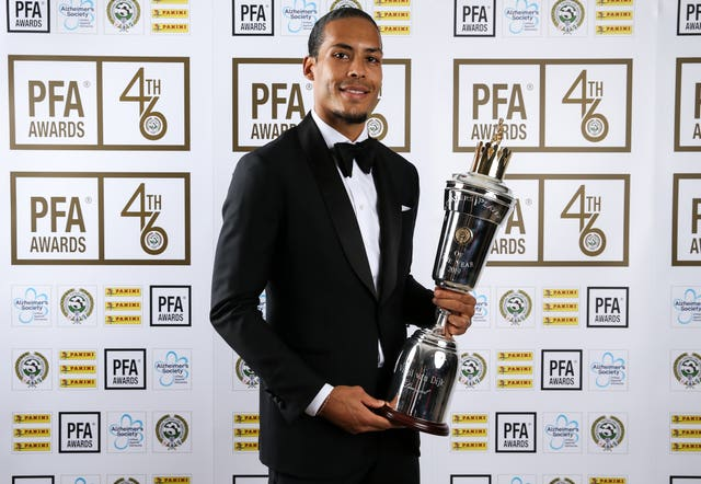 Virgil Van Dijk was named PFA Players' Player of the Year in 2019
