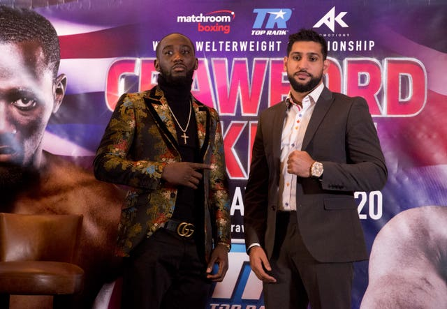 Terence Crawford (left) takes on Amir Khan in New York this weekend