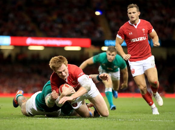Ryhs Patchell was making his first Test start since last June when he was injured against Ireland