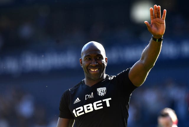 Darren Moore could be confirmed as the new boss of West Brom (Anthony Devlin/PA)