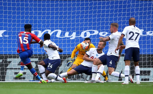 Jeffrey Schlupp netted Palace's equaliser on Sunday