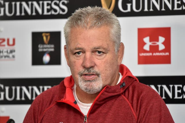 Warren Gatland has joked that Wales may have a few more pre-match tricks up their sleeves