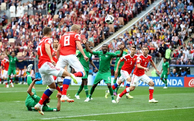 Yury Gazinsky scored the first goal of the World Cup