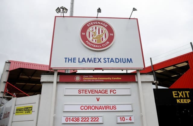 Stevenage face relegation from League Two if points-per-game is applied