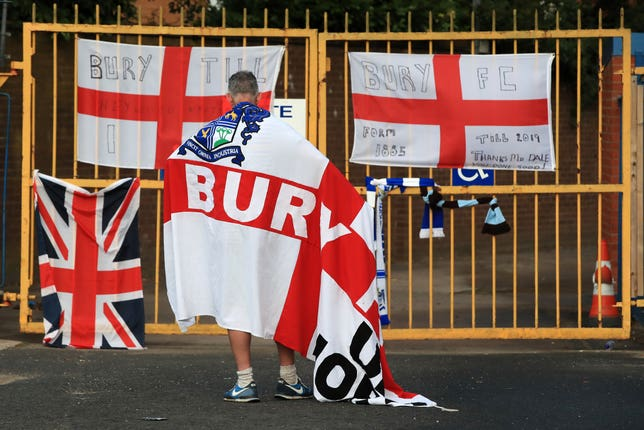 Bury were expelled from the league last month