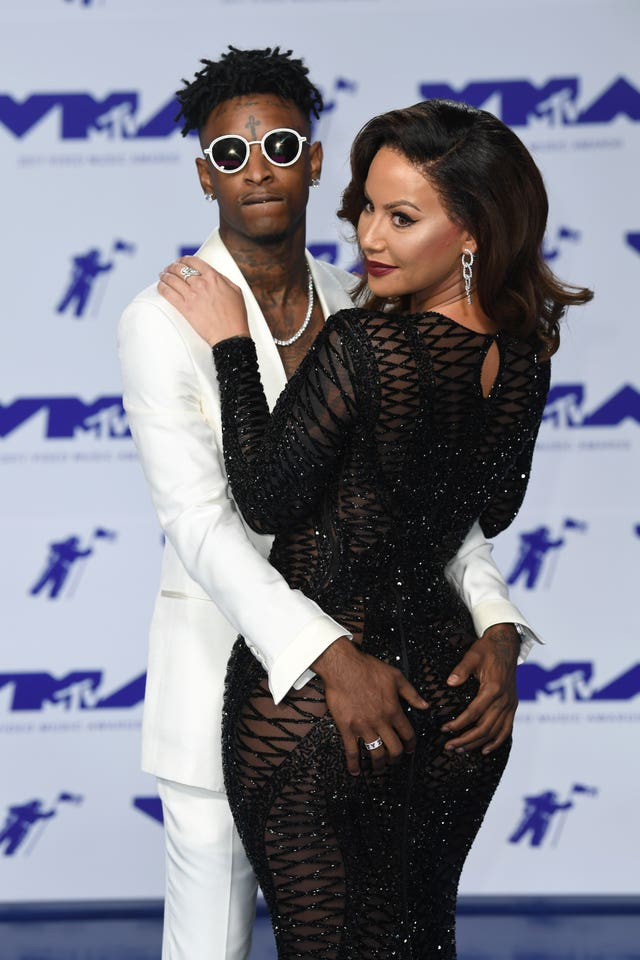 21 Savage with model and actress Amber Rose