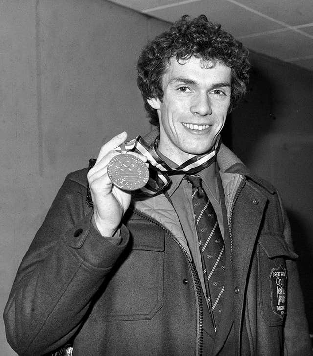 John Curry with medal