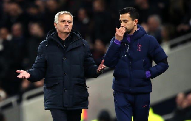 Jose Mourinho, left