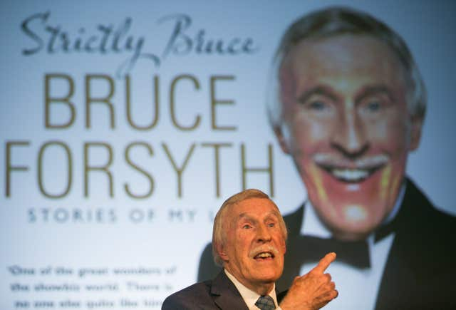 Sir Bruce was was a household name in the UK for generations (Daniel Leal-Olivas/PA)