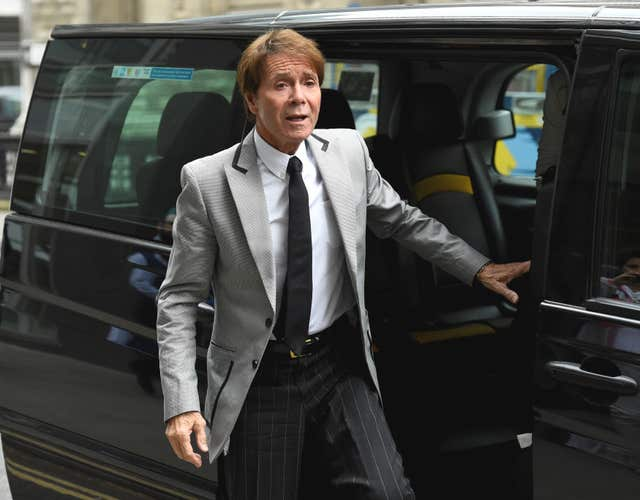 Sir Cliff has sued the BBC over its coverage of the raid (Kirsty O'Connor/PA)