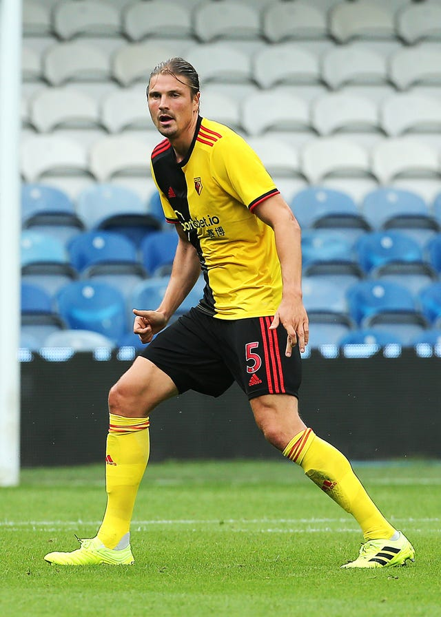 Sebastian Prodl made his first league start of the season for Watford