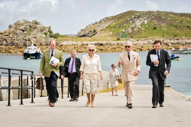 The Prince of Wales and Duchess of Cornwall on St Agnes