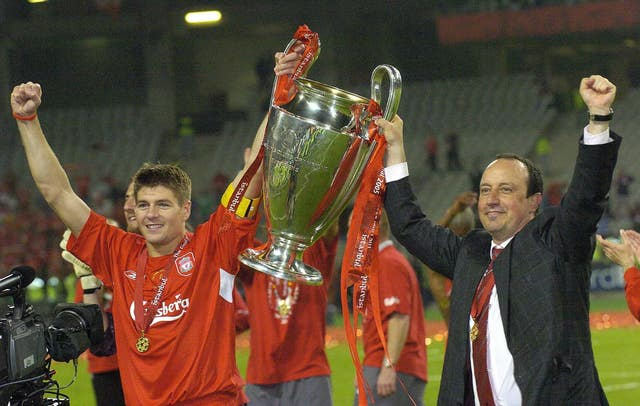 Rafael Benitez guided Liverpool to the Champions League title