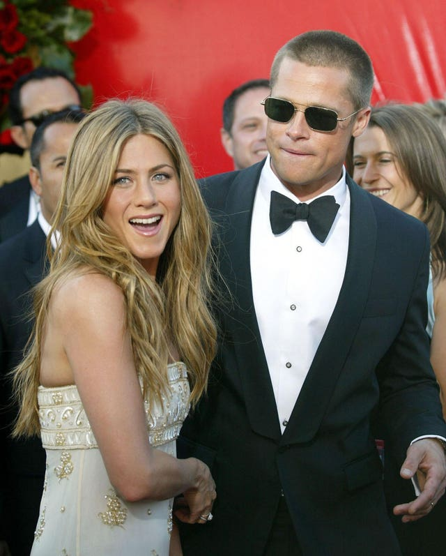 Jennifer Aniston and Brad Pitt, who wed in 2000 (PA)