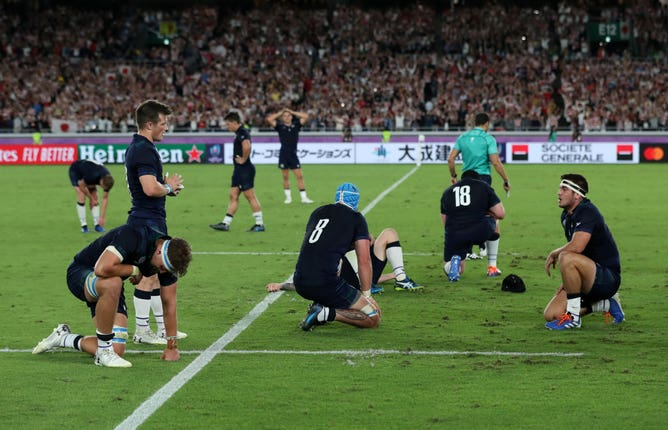 Scotland were dumped out of the World Cup by hosts Japan