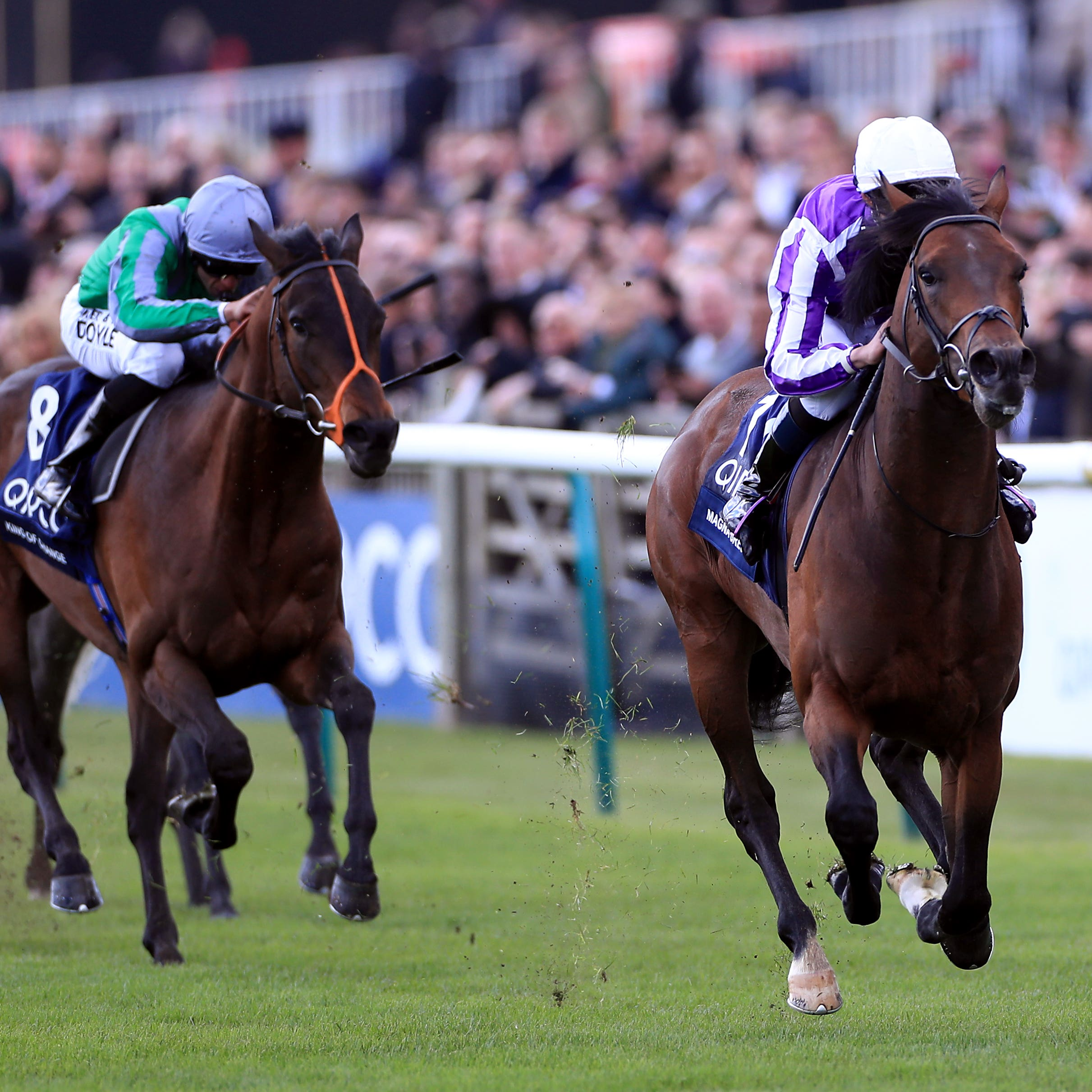 King Of Change (left) chases home Magna Grecia in the 2000 Guineas