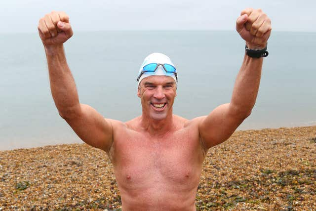 Lewis Pugh swam the length of the English Channel in July and August