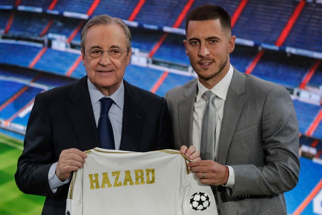 Eden Hazard is a Real Madrid player