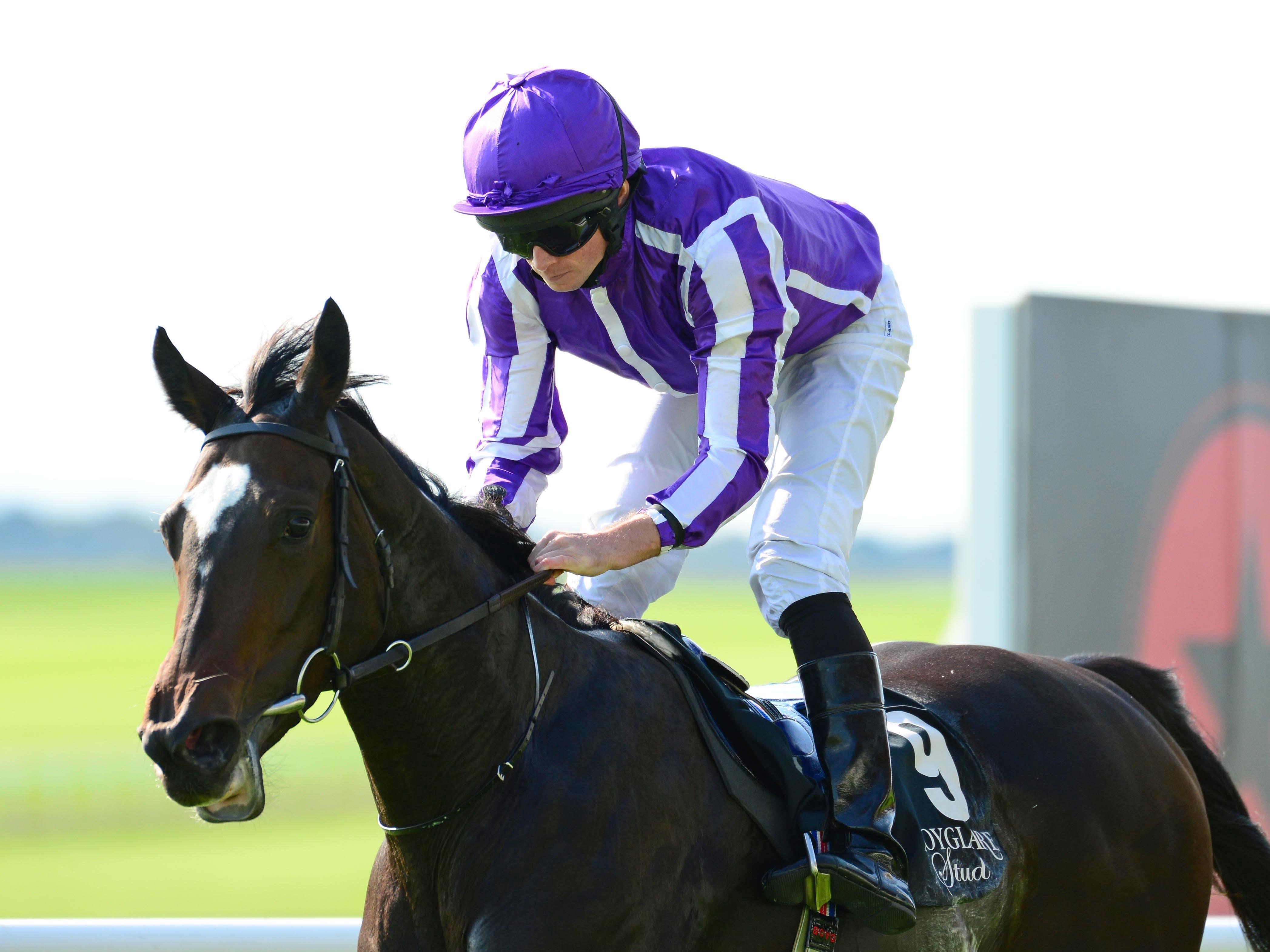 Shale winning the Moyglare Stud Stakes (PA)