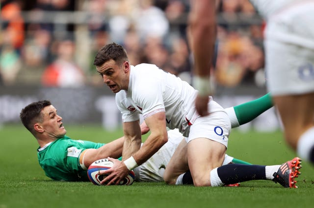 George Ford capitalised on Johnny Sexton's error to score England's opening try at Twickenham