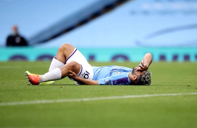 Aguero underwent knee surgery after suffering injury against Burnley in June